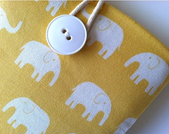 "Cute Kindle Fire Case, Kindle Voyage, Fire HD Cover or Fire 7"" Padded Sleeve - Elephants"