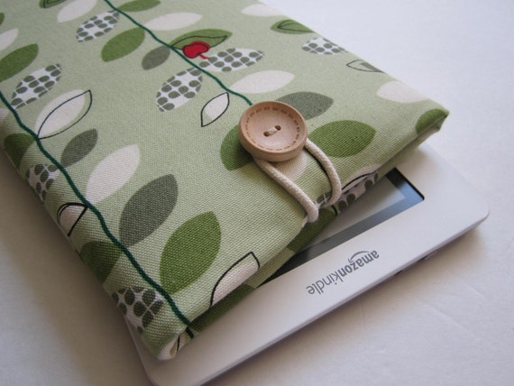 Kindle or Nook Cover Sleeve Case Padded - Apple Tree