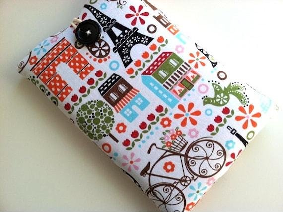 Paris iPad Mini Case, Kindle Paperwhite Cover, or Custom Tablet Sleeve Padded
