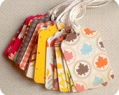 DESTASH Clearance SALE - NEW SET - Autumn is Coming Tags - Set of 18 - Scrapbooking - Cards - Baked Goods - Products - Gifts - Notes - Journaling - Labels