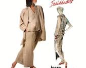 Rare 1980s Issey Miyake Vogue Individualist Sewing Pattern - Jacket, Skirt, Pants, Top - UNCUT