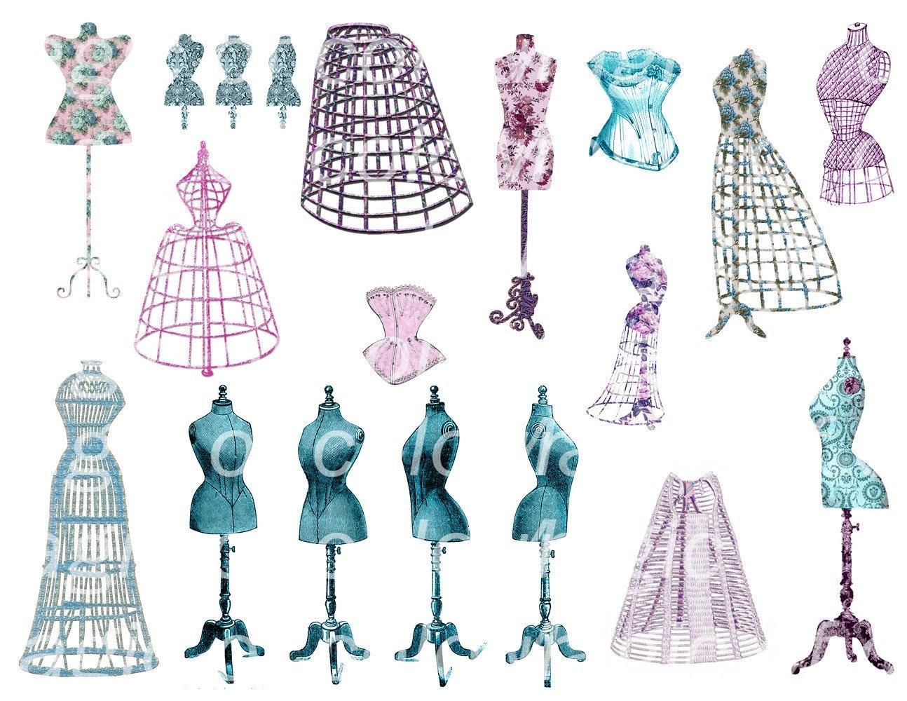 vintage dresses clipart - photo #15