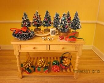 Mini Christmas Tree Workshop Table