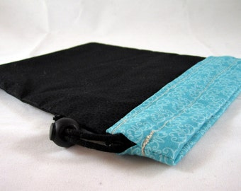 Project Bag, Blue, Black, Reversible, FREE US Shipping, Small