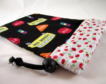 Knitting Project Bag,Reversible, Small