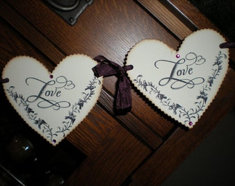 Heart Garland / Banner with rhinestones