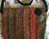 Autumn and Polka Dots Crocheted Purse