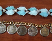 feathers and pennies vintage bracelets