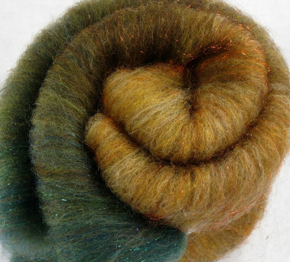 Fall Woods Fiber Batt - 2.55 oz Wool for Spinning and Felting
