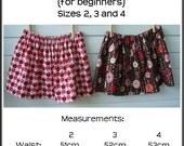 Easy Peasy Girls Skirt e-Pattern (for beginners) Sz 2 to 8