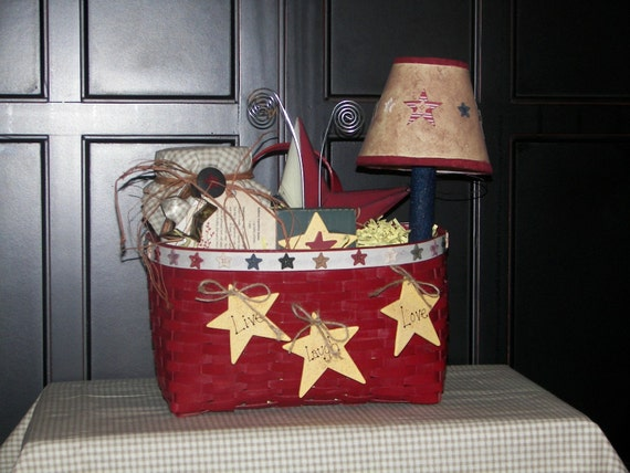 Items similar to country prim star themed home decor gift for Country star decorations home