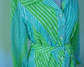 David Crystal Cotton Shirt Dress M-L