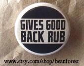 gives good back rub