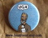 Ugh of the Ancient Mariner (Coleridge) - pinback button badge