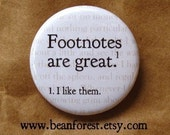 footnotes are great funny grammar magnet literary gifts book lover gift book nerd geeky gift english professor gift 1.25 refrigerator magnet
