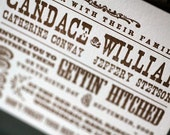 Rustic Letterpress Wedding Invitation