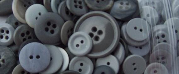 BULK - Buttons - Gray/Grey - OVER 100