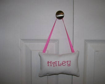 Haley Counted Cross Stitch Hanging Pillow