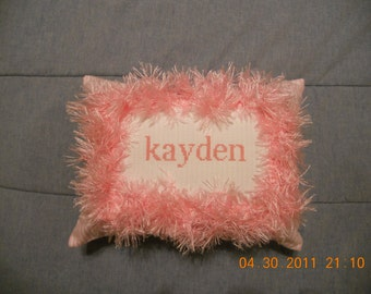 Kayden Counted Cross Stitch Pillow