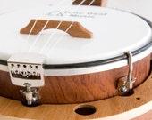 Banjo ukulele style 2 mixed dark wood