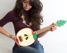 Custom Made Apple acoustic ukulele ( applelele )