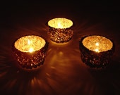 SALE buy 2 get 1 FREE- votive candle holder- made from recycled magazines, candle, votive, paper, candlelight