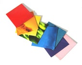 mini envelopes - made from recycled magazines, colorful, red, orange, yellow, green, blue, teal, pink, purple