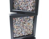 group of 3 shadowboxes... made from recycled magazines