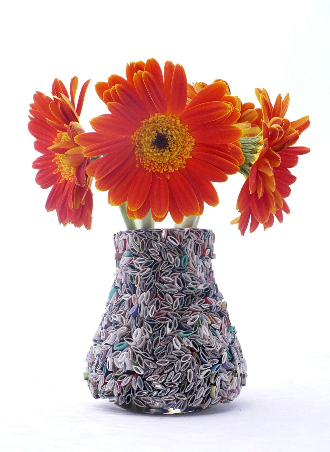 Flower Vase Made From Recycled Magazines Home Decor