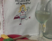 Wine Goes With All My Outfits Dish Towel