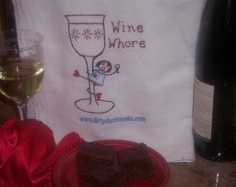 The Wine Whore Dish Towel