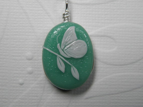 Sculpted Butterfly on Branch Pendant