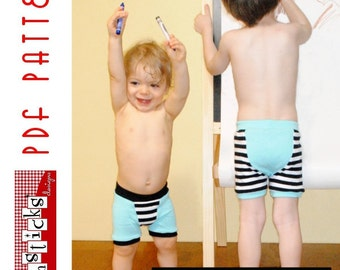 PDF Sewing Pattern:  The Undercover Bottoms Boxer Briefs (Instant Download)