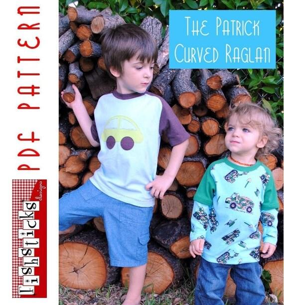 PDF Sewing Pattern:  The Patrick Curved Raglan Infant-Toddler