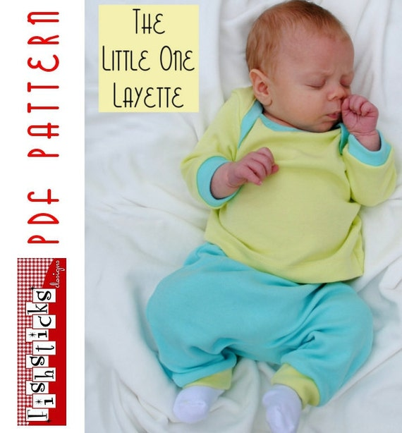 PDF Sewing Pattern:  The Little One Layette