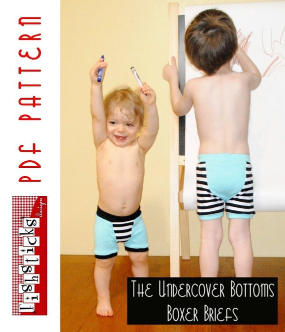 PDF Sewing Pattern:  The Undercover Bottoms Boxer Briefs