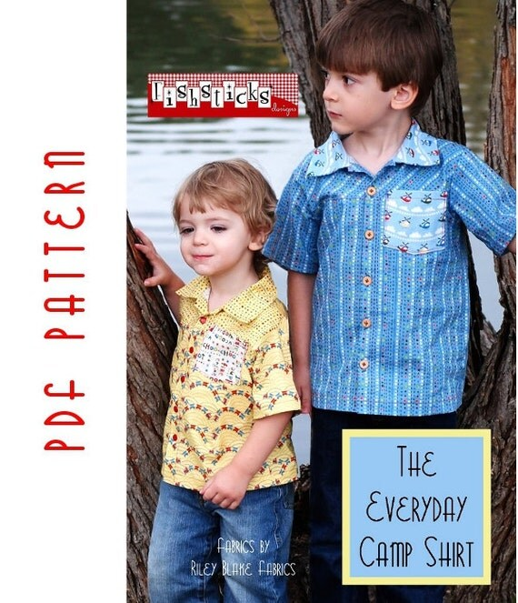 PDF Sewing Pattern:  The Everyday Camp Shirt Infant-Toddler