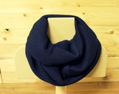 Chunky Scarf in Navy