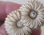 repurposed vintage Jewelry - a chrysanthemum ring for your finger