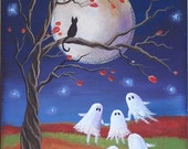 Ghost Dance Halloween Folk Art 7 x 5 Print