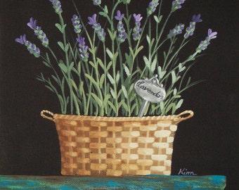 Lavender Folk Art Print