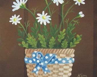 Daisies Original Folk Art Print