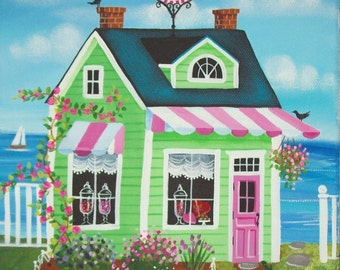 Candy Shoppe Folk Art Print