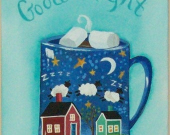Good Night Folk Art Print