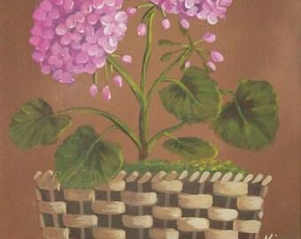 Geranium Original Floral Still Life Art Print