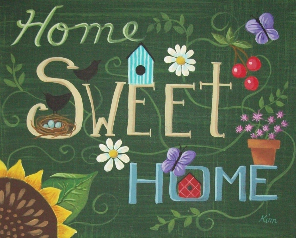 Home sweet home painting - Like This Item