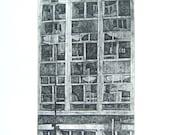 Office Block (Original Collagraph Hand Pulled Artist Print)