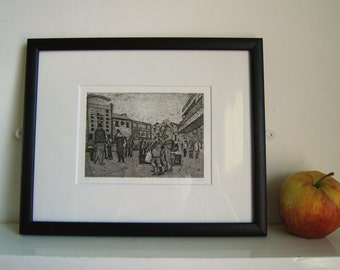 Saturday Afternoon (Original Collagraph Hand Pulled Artist Print)