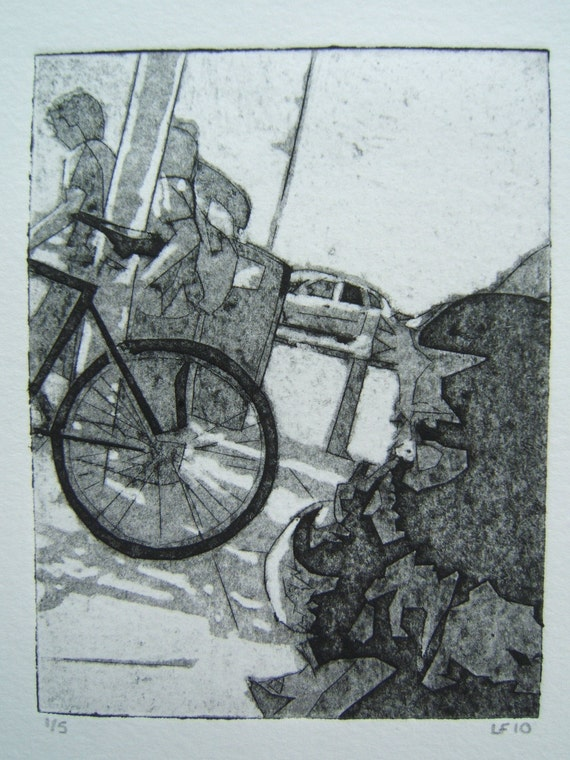 BL III (Original Hand Pulled Collagraph Artists Print)