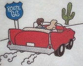Large Iron on  Embroidered Patch  Sewn Upon On Paid Order  Route 66